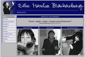 """Screenshot der Startseite """"mascha-blankenburg.de"""""""
