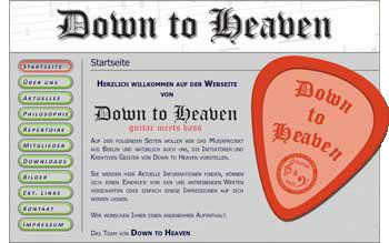 """Screenshot der Startseite von """"down-to-heaven.de"""""""