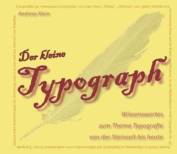 """Coverseite der Broschüre """"Der kleine Typograph"""""""